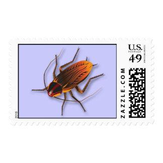 Bugzeez_The Artful Roach on purple postage