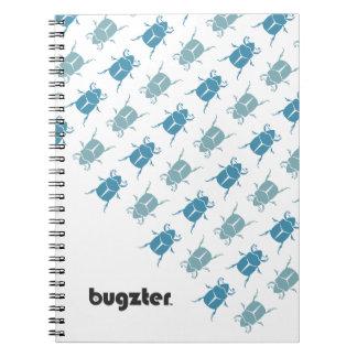 Bugzter - funcionamiento azul del escarabajo de es cuaderno