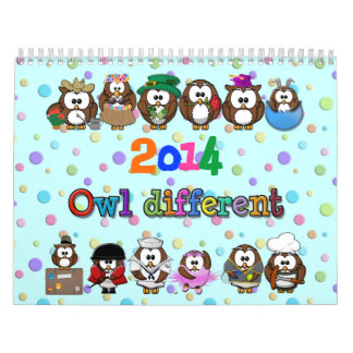 búho 2014 diferente calendarios de pared