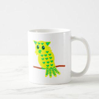 búho 3-Yellow Tazas De Café