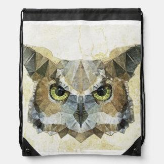búho abstracto mochilas