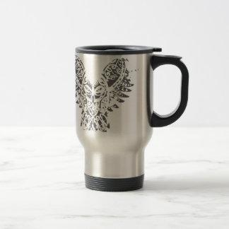 Búho abstracto taza térmica