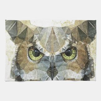 búho abstracto toalla de cocina