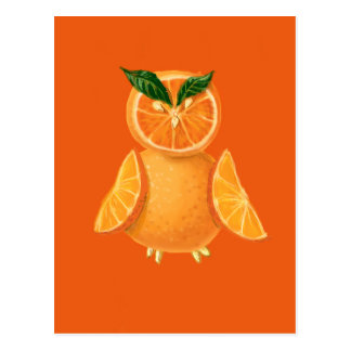 Búho anaranjado tarjetas postales