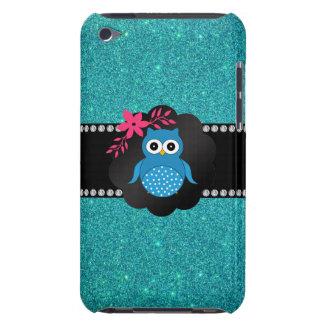 Búho azul de lujo de la turquesa del búho barely there iPod carcasas