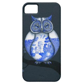 Búho azul del sauce iPhone 5 funda