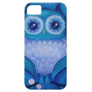 búho azul iPhone 5 carcasas