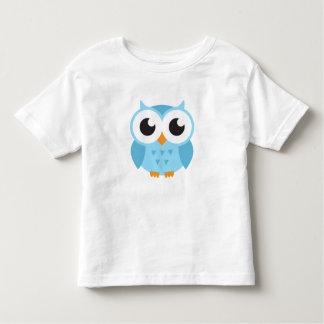 Búho azul lindo del bebé del dibujo animado camiseta