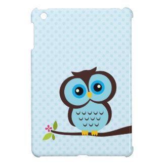 Búho azul lindo iPad mini carcasas