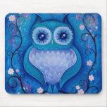 búho azul tapete de raton