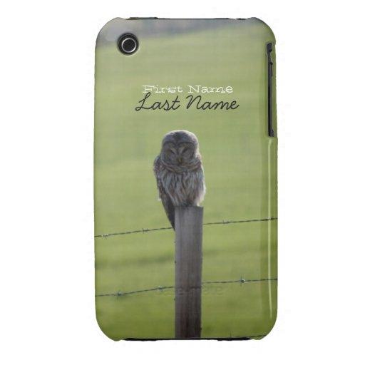 Búho barrado de BAOW Carcasa Para iPhone 3