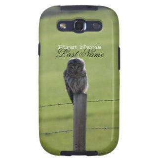 Búho barrado de BAOW Galaxy S3 Protectores