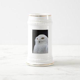 Búho blanco jarra de cerveza