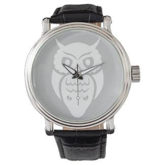 Búho blanco relojes de pulsera