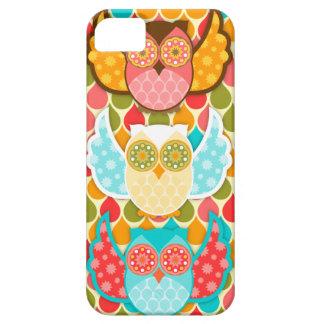 Búho Boheme tres búhos coloridos iPhone 5 Case-Mate Carcasa