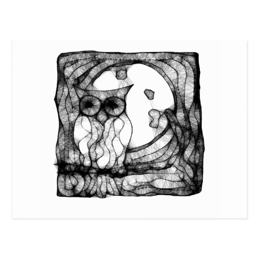 Búho cambiante abstracto tarjetas postales