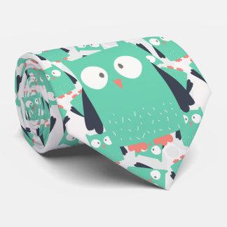 Búho caprichoso del trullo corbata personalizada