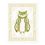 Búho céltico tarjeta postal