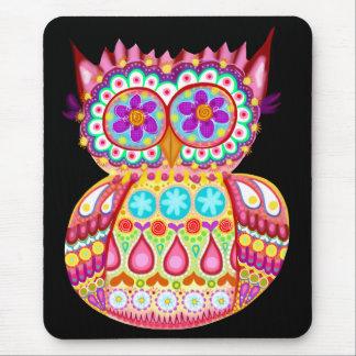 Búho colorido lindo Mousepad Tapete De Ratón