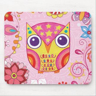 Búho colorido lindo Mousepad Tapetes De Ratones