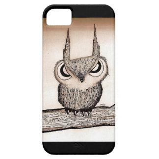 Búho con actitud iPhone 5 funda