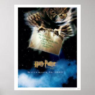 Búho con el cartel de película de la letra póster