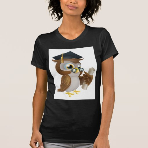 Búho con grado o la calificación camisetas