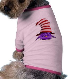 Búho con un gorra camiseta de perro