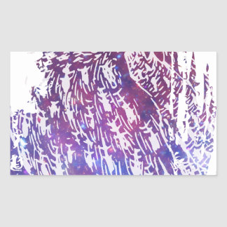 Búho cósmico pegatina rectangular