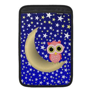 búho creciente de la luna funda macbook air