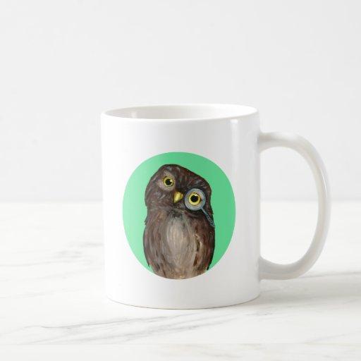 Búho curioso taza de café