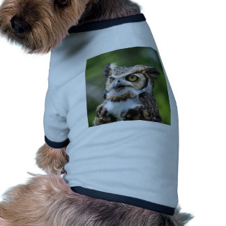 Búho de cuernos camisas de perritos
