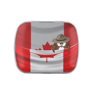 Búho de día de Canadá Latas De Caramelos