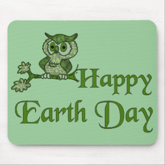 Búho de Día de la Tierra Tapete De Raton