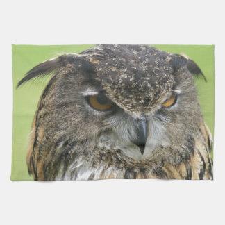 Búho de Eagle del eurasiático Toalla De Mano