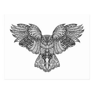 Búho de Eagle inspirado Postales