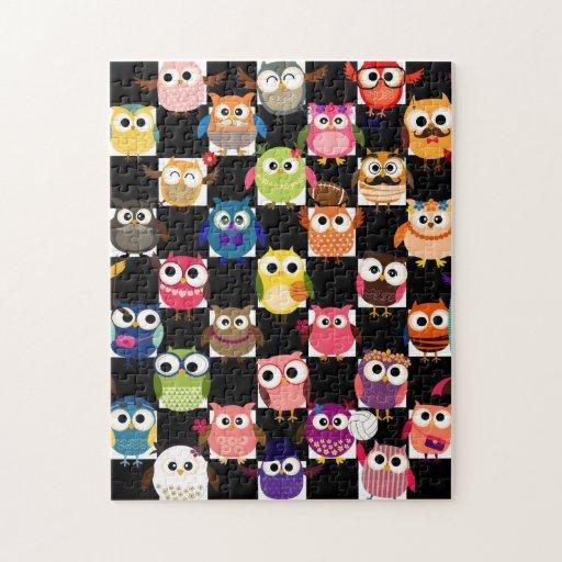 Búho de encargo magnífico puzzles con fotos