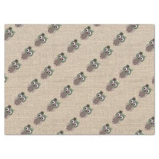 Búho de encargo rústico colorido hermoso papel de seda grande