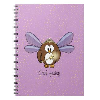 búho de hadas cuadernos