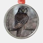 Búho de halcón septentrional ornamentos de reyes magos