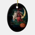 Búho de Halloween del vintage y ornamento de la br Adorno Para Reyes