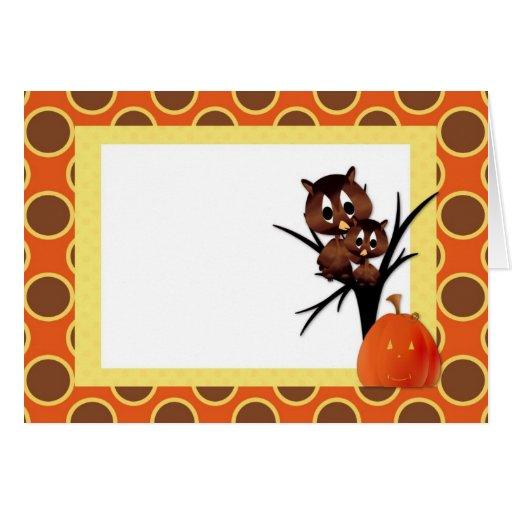 Búho de Halloween Tarjeton