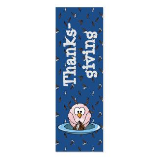 Búho de la acción de gracias tarjetas de visita mini