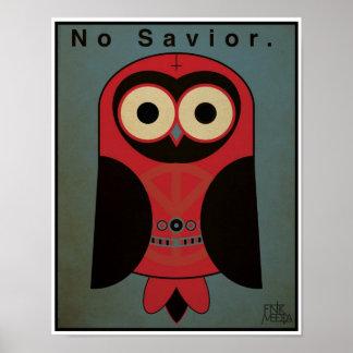 búho de la Anti-Religión 11x14 esquema de color Impresiones