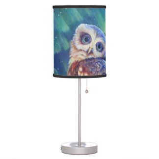 Búho de la aurora lámpara de mesa
