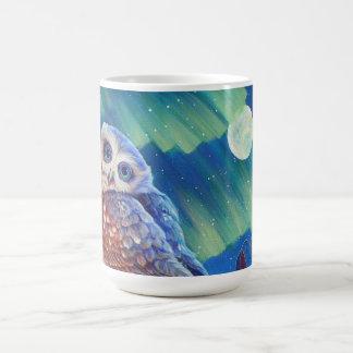 Búho de la aurora taza de café