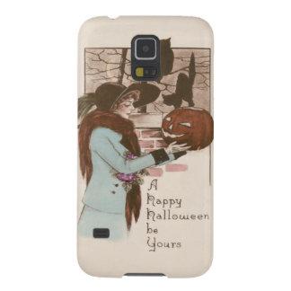 Búho de la calabaza de la linterna de Jack O de la Carcasa Galaxy S5