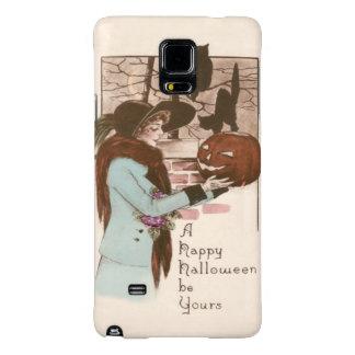 Búho de la calabaza de la linterna de Jack O de la Funda Galaxy Note 4