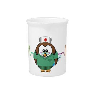 búho de la enfermera jarra