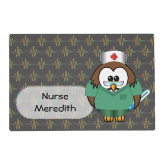 búho de la enfermera tapete individual